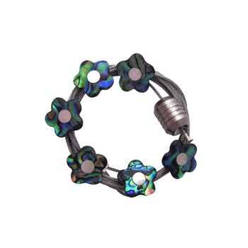 MAGNET WIRE - PAUA FLOWERS (6)