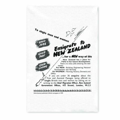 EMIGRATION 1949 - TEATOWEL