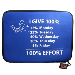 LAPTOP BAG 15INCH - 100% EFFORT, BLUE