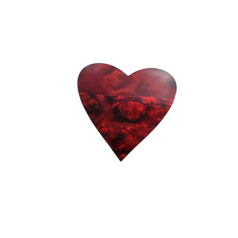 SHAPE - RUBY RED - HEART LARGE (35MM) (DOZ)