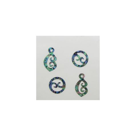 THEME PAUA - DOUBLE KORU SET (4PCS)