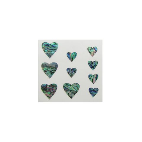 THEME PAUA - HEARTS (10PCS)