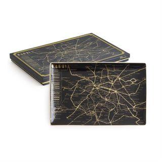 Jazz Age, Tray Paris Map 25 x 16.5cm
