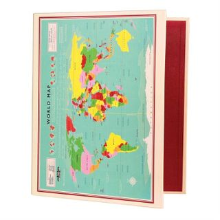 Ring Binder, World Map