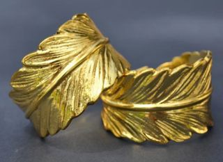 Feather Napkin Ring, Gold
