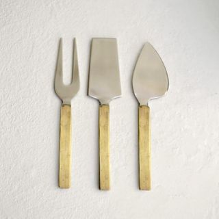 From The Forge, Cheese Knives, Matte Brass, set of 3
