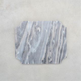**Cheese Board, Arced Corner Grey Marble, 29.5cm x 24.5cm