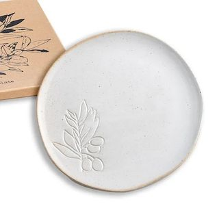 Farm to Table Plate (Olive) Debossed