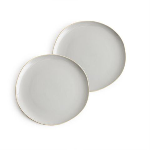 Pacifica, Plates Grey set of 2, 25cm dia