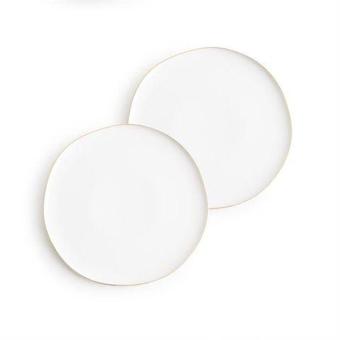 Pacifica, Plates White set of 2, 25cm dia
