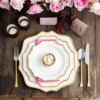 Floraison Dessert Plate, White