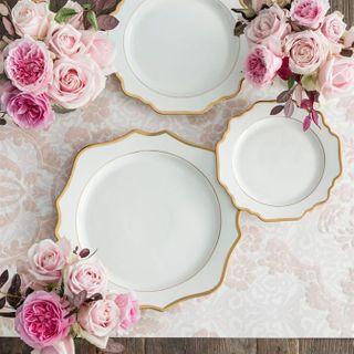 Floraison Dinner Plate, White