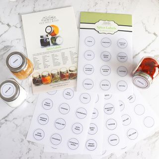 Spice Jar Labels, NEW 60 PVC adhesive labels