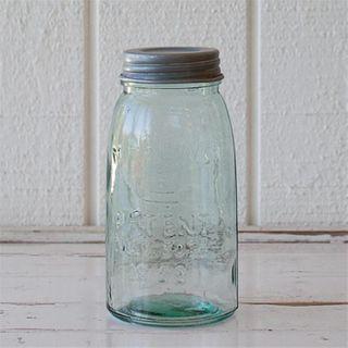 Antique Mason Jar with zinc lid, 1000ml