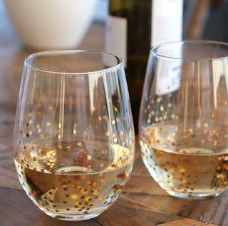 Confetti Stemless Wine Glass set of 4