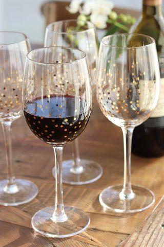 Confetti Wine Goblet, Set 4