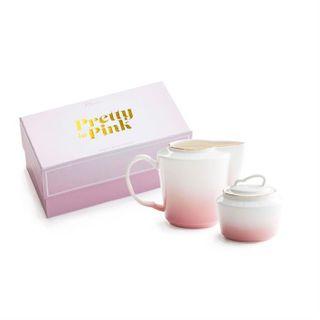Pretty in Pink, Creamer & Sugar