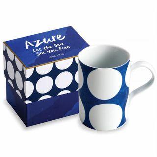 Rosanna Azure Mug, Blue w/White Dot
