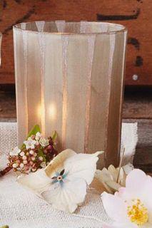 Luxe Satin Matte Pale Gold Votive Holder, Vertical, Large