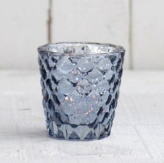 Quilted Mercury Votive, pale blue