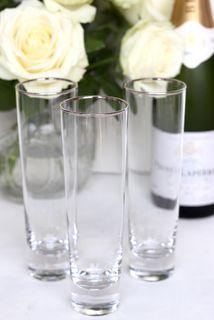 Silver Rim, Champagne Flute, Set of 4