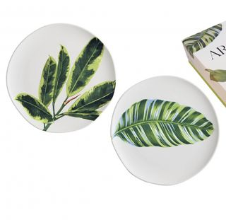 Arcadia Leaf Plates, Set of 2