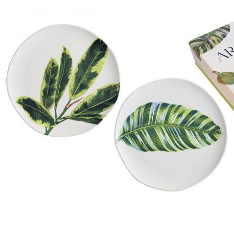 Arcadia Leaf Plates, Set of 2