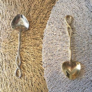 Heart Infinity teaspoon, gold