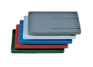 TRAY FOR INSTRUMENTS WITH RACK WHITE