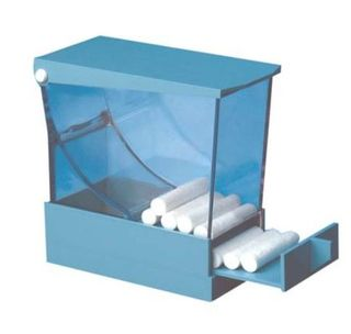 COTTON ROLL DISPENSER BLUE A4