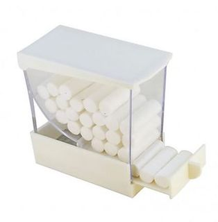 COTTON ROLL DISPENSER WHITE A4