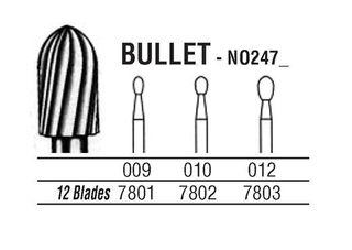 247-009 7801 CARBIDE FG NORTHB BURS /5