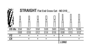 31-012 558 CARBIDE FG NORTHB BURS /5