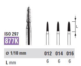 877K-012 DIAMOND FG NORTHBEL BURS PKT 5