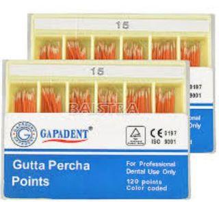 GUTTA PERCHA POINTS .04 TAPER 15 BOX/60