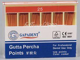 GUTTA PERCHA POINTS .04 TAPER 25 BOX/60