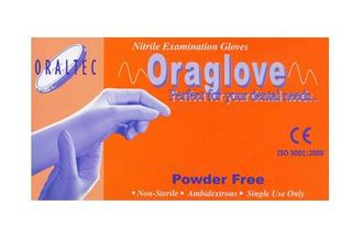 ORAGLOVES NITRILE BLUE PFREE MEDIUM /100