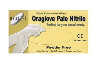 ORAGLOVES NITRILE PALE WHITE LARGE /100