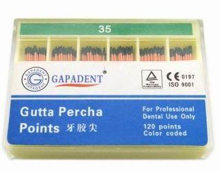 GUTTA PERCHA POINTS .04 TAPER 35 BOX/60