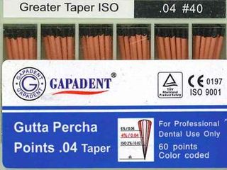 GUTTA PERCHA POINTS .04 TAPER 40 BOX/60