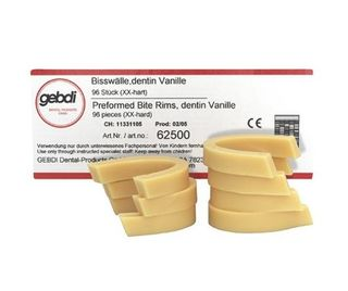 GEBDI WAX BITE RIMS DENTINE XX HARD/96