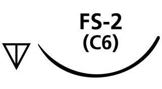 SUTURE CHROMIC GUT 3/0 FS2 NEEDLE /12