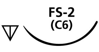 SUTURE PLAIN GUT 4/0 FS2 NEEDLE /12