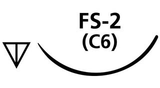 SUTURE CHROMIC GUT 4/0 FS2 NEEDLE /12
