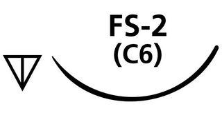 SUTURE PGA 4/0 C6 FS2 NEEDLE /12
