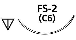 SUTURE NYLON BLACK 4/0 C6 FS2 NEEDLE /12