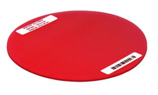 BIOPLAST NEON RED 125MM ROUND 3MM /10