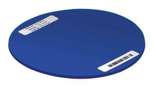BIOPLAST AZURE BLUE 125MM ROUND 3MM /10
