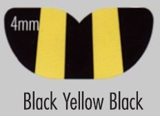 M/GUARD SQ 4MM BLACK/YELLOW MULTI 127