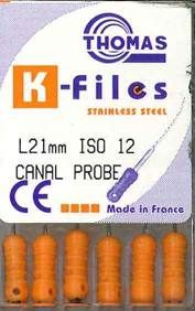 CANAL PROBE 21MM PKT 6 SIZE 12